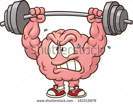 Strong Weightlifting Brain Clip Art Vector Stock Vector 161515979.