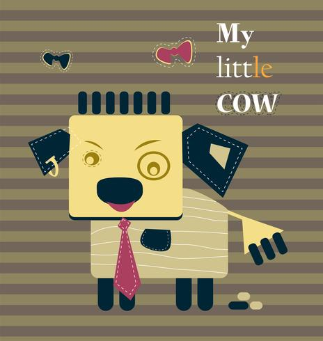 My little cute calf funny business concept.