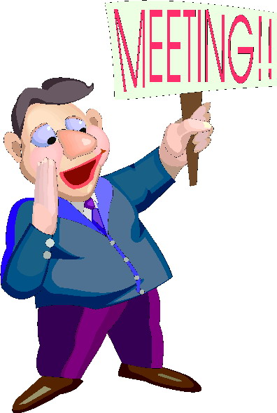 Funny Business Meeting Clipart.