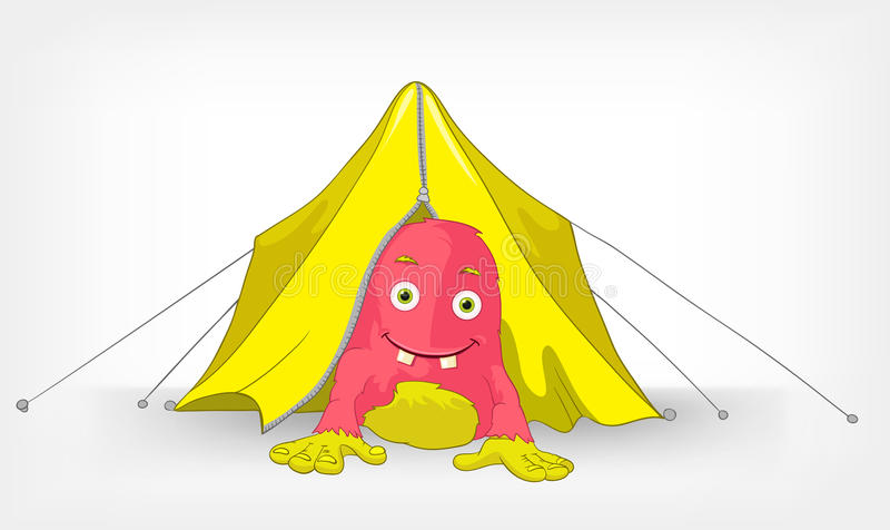 Funny Camping Stock Illustrations.