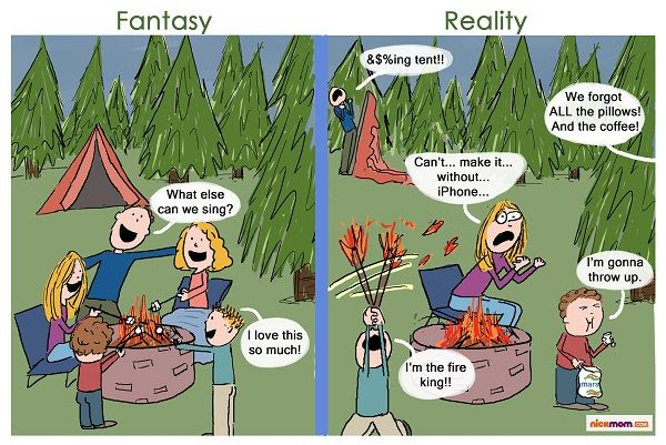 funny cartoons about camping.