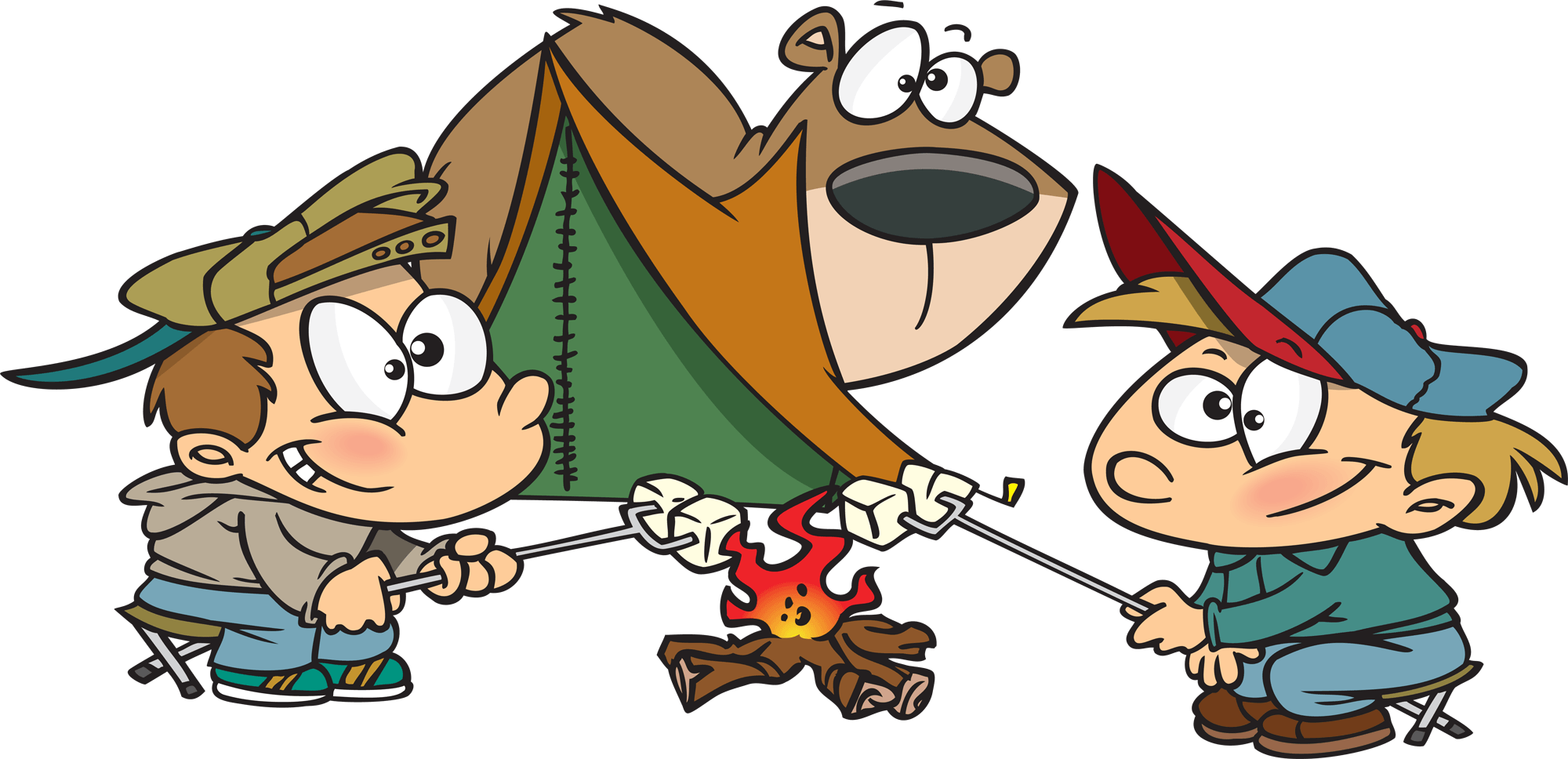 Funny Camp Cliparts.