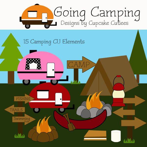 Camping Fun Elements.