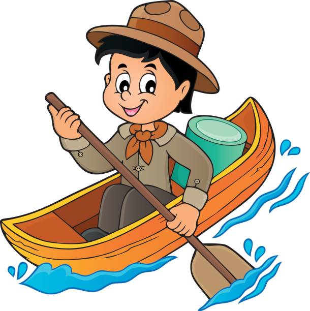 Canoe clipart kid, Canoe kid Transparent FREE for download.