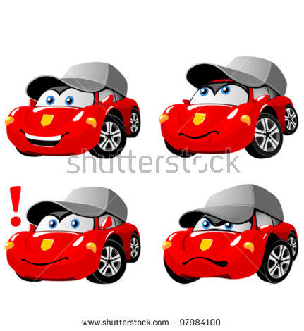 Cartoon Cars Stock Images, Royalty.