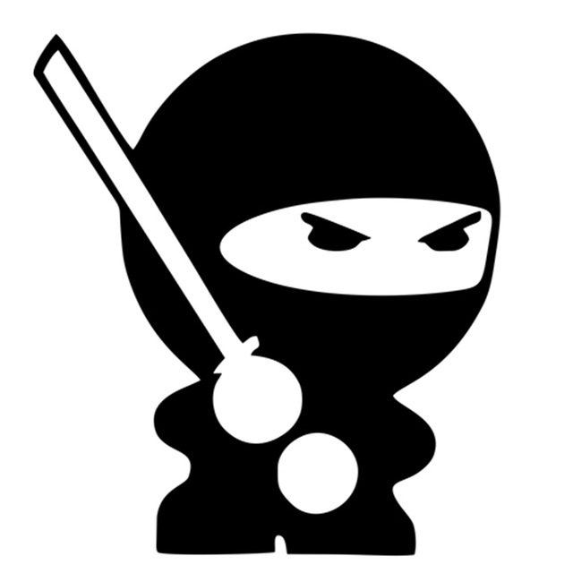 Aliexpress.com : Buy Lovely protected NINJAS funny Ninja decal.