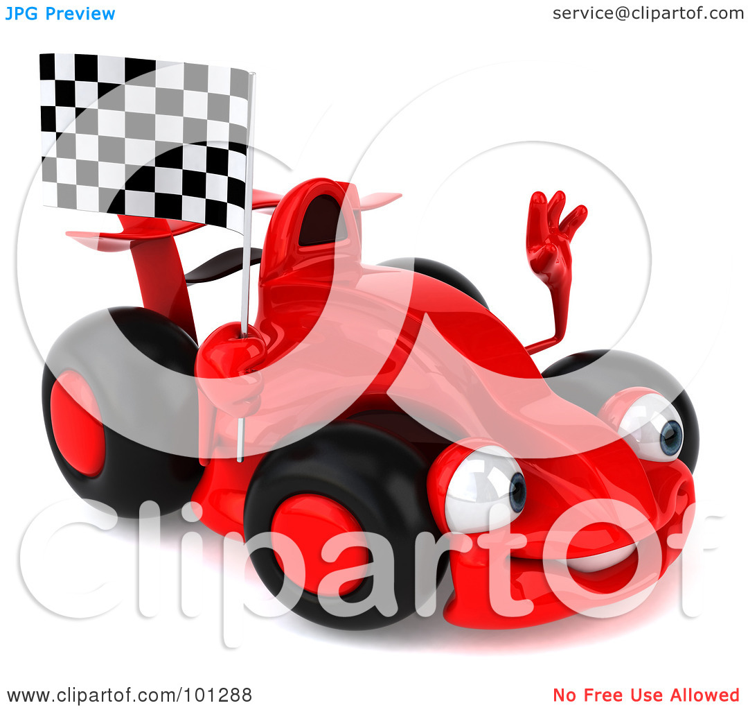 Funny Car Clipart Facing Right.