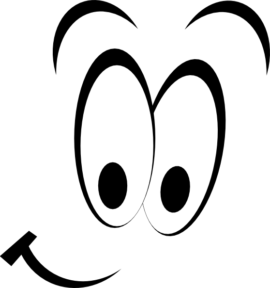 Cartoon Eyes Clipart Black And White.
