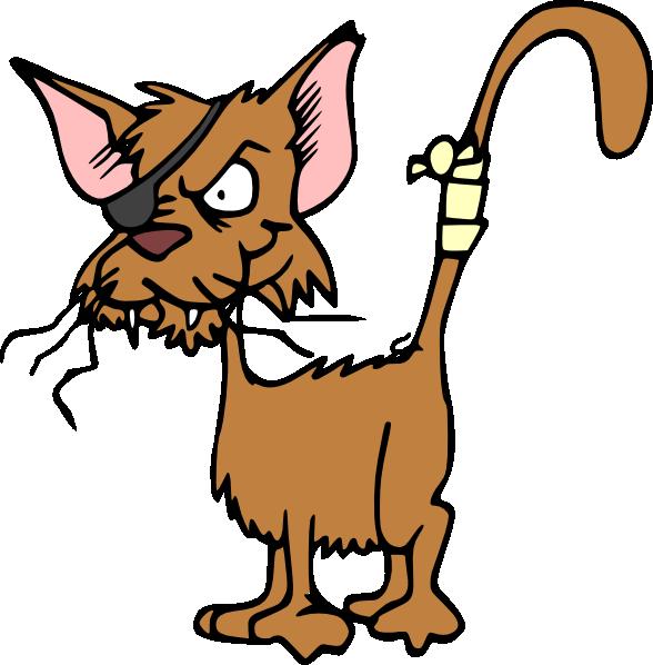 Funny cat clip art.