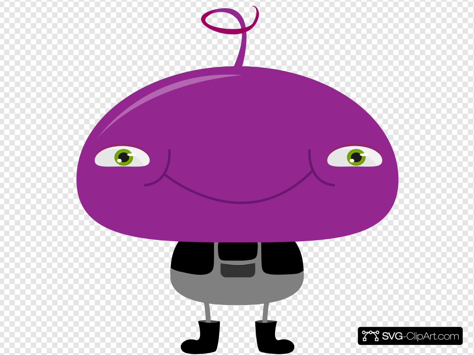 Funny Purple Character Clip art, Icon and SVG.