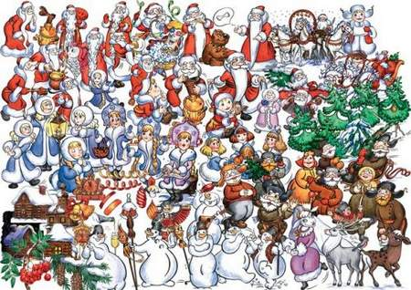 Funny Christmas clipart psd.