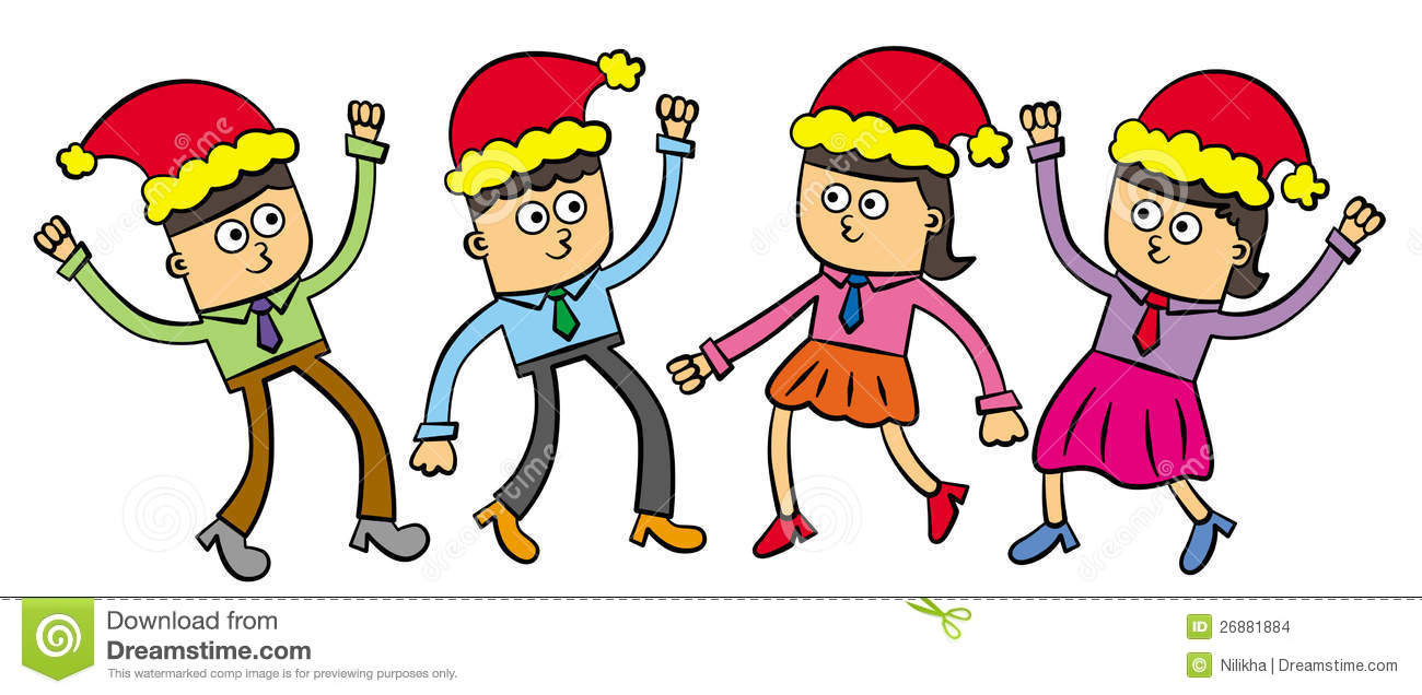 Funny Christmas Party Clipart.