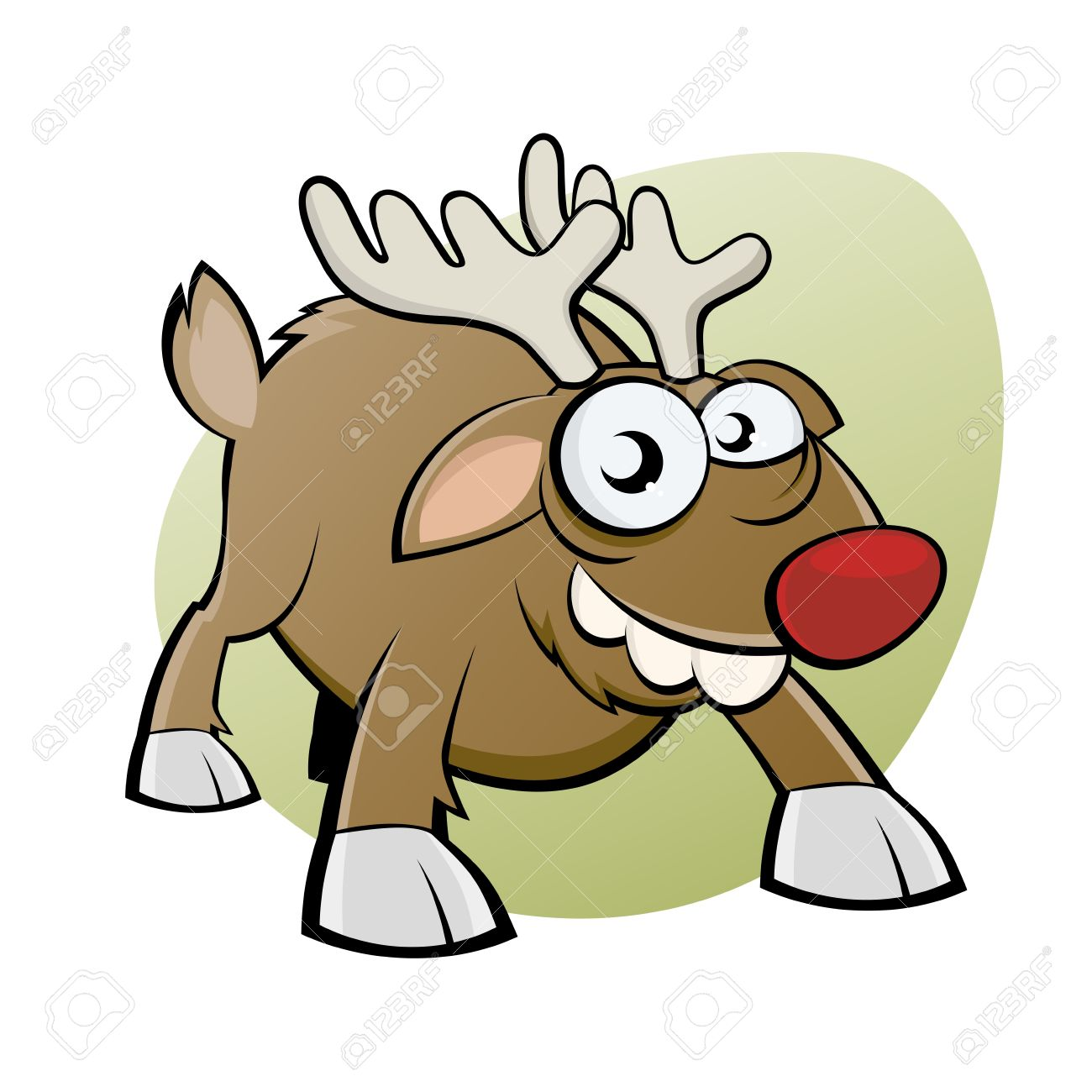 Funny Christmas Reindeer Royalty Free Cliparts, Vectors, And Stock.