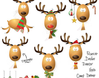 Funny Reindeer Clipart.