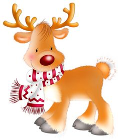 Christmas baby reindeer clipart.