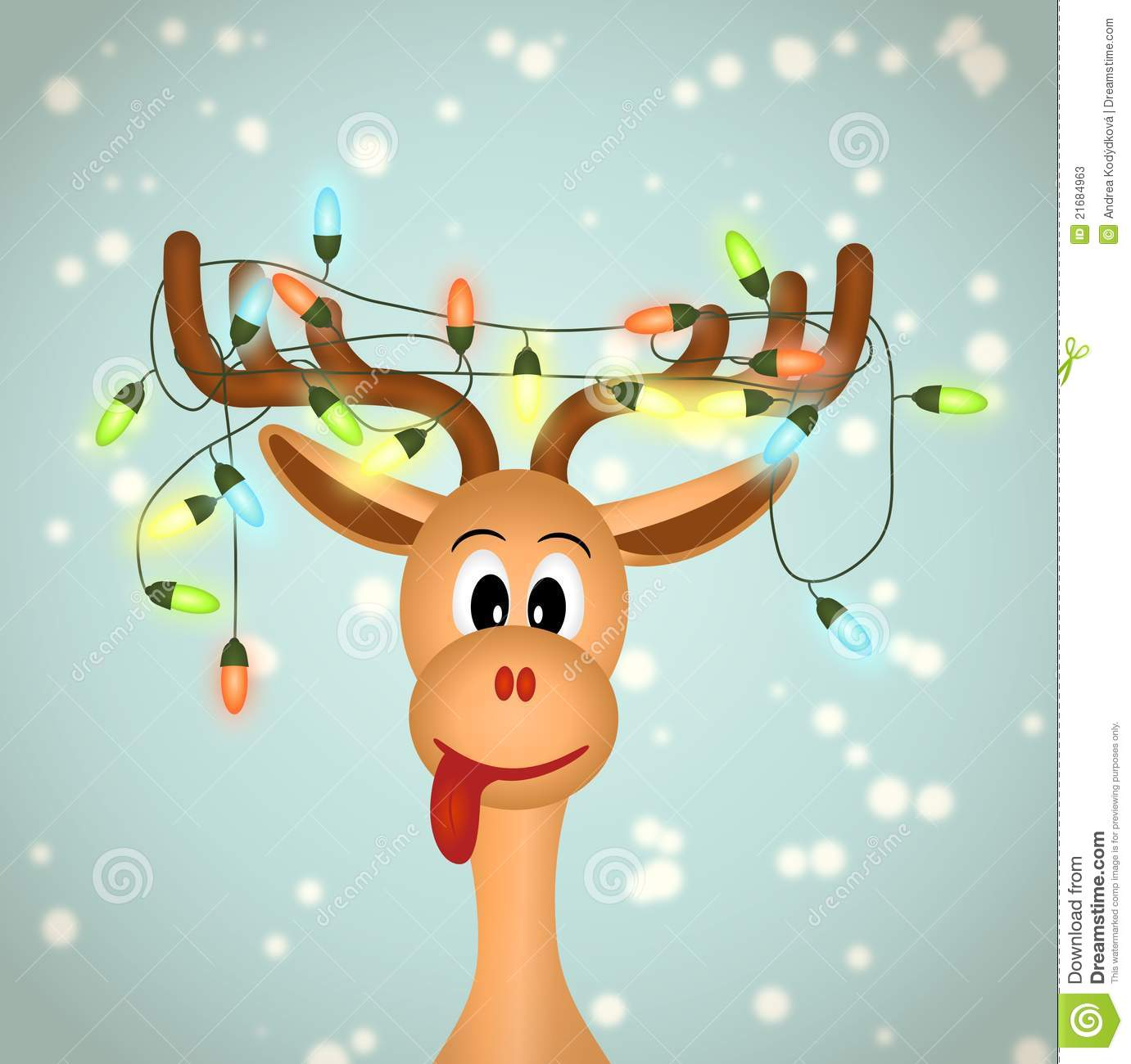Funny Christmas Reindeer Clipart.