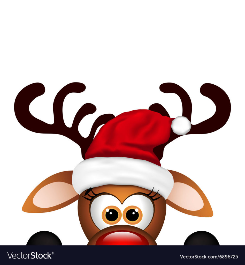coloring ~ Funny Christmas Reindeer Vector Incredible Pictures.
