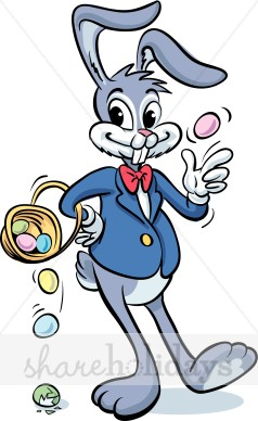 Funny Clipart Easter Bunny.