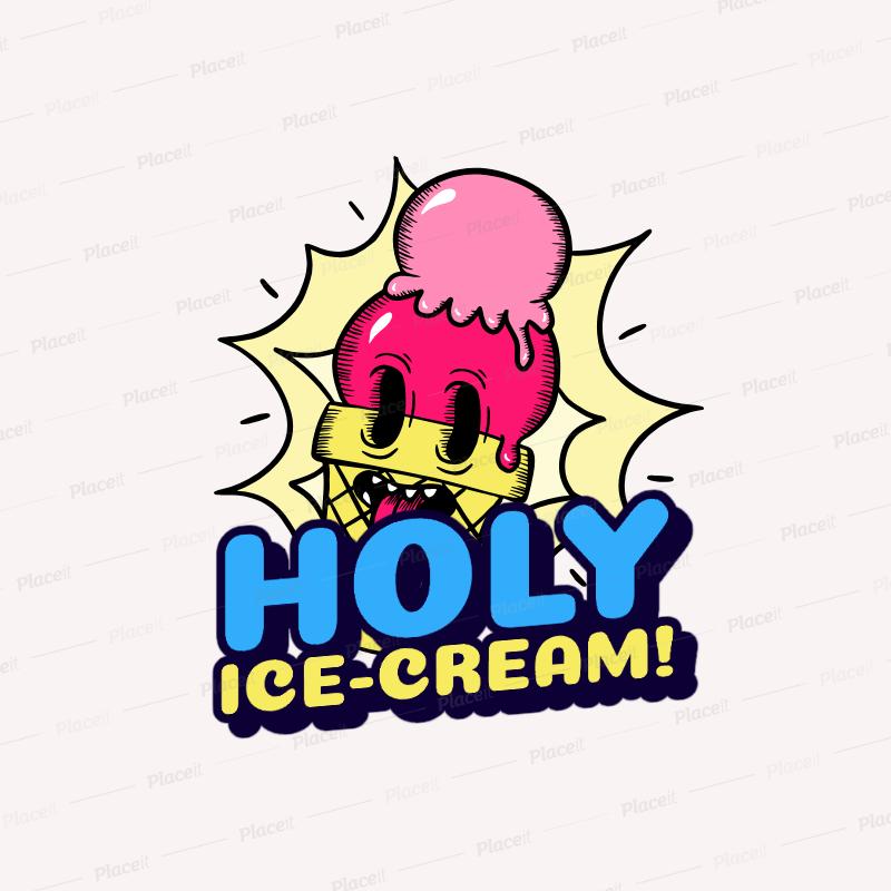 Santa Cruz Inspired Logo Creator with a Funny Ice.