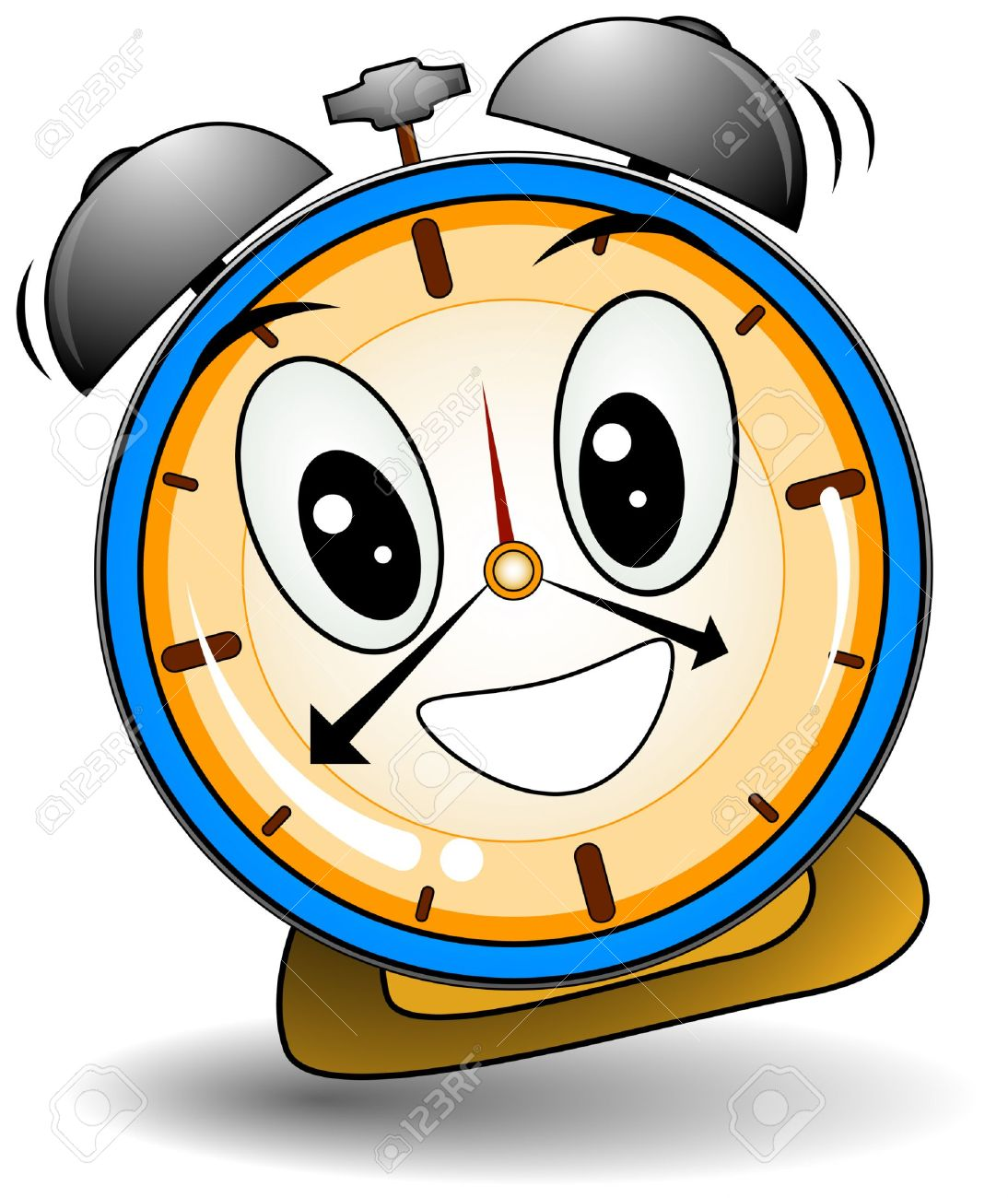Cartoon alarm clock clipart image #10689.