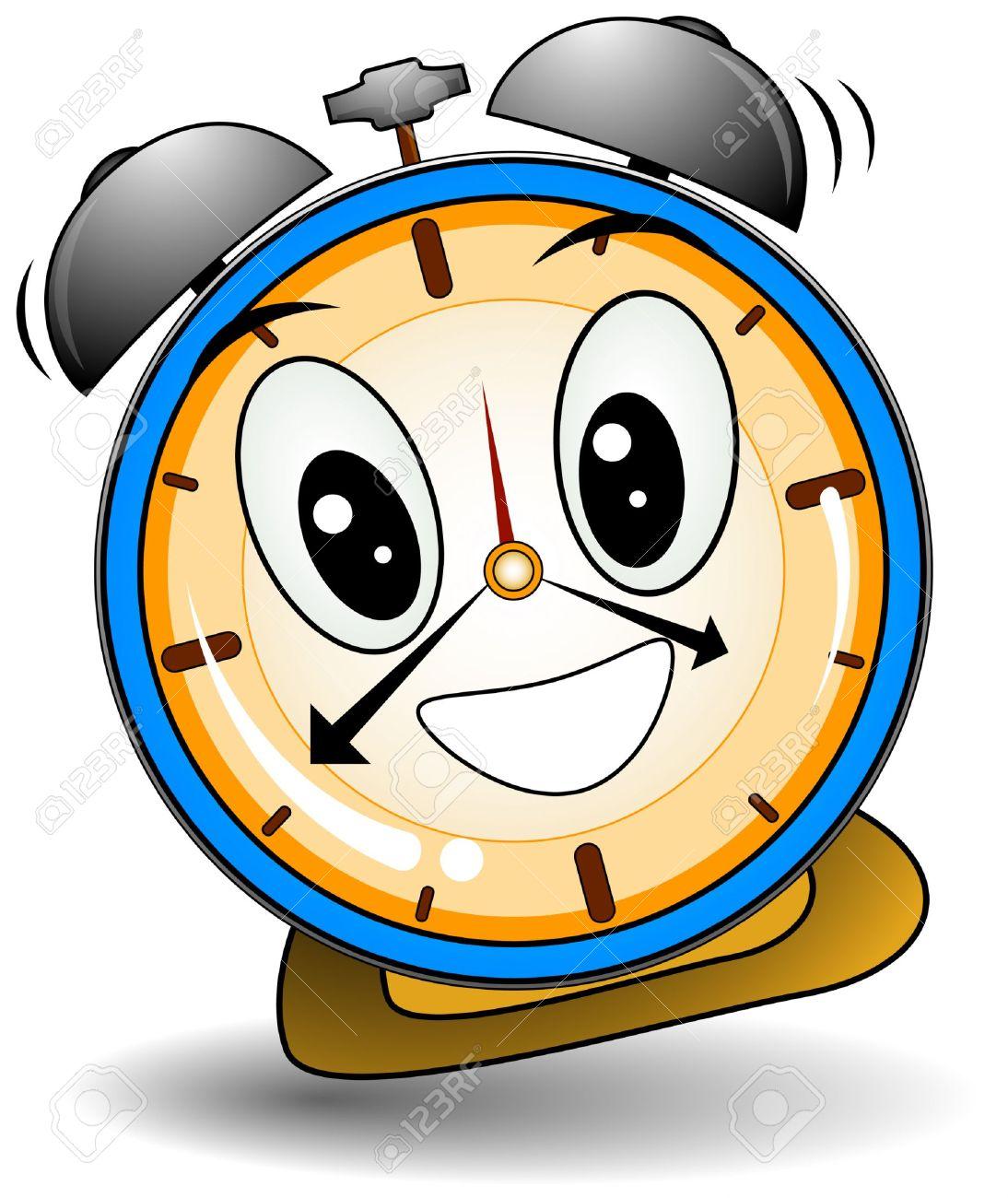 Cartoon alarm clock clipart image #10689.
