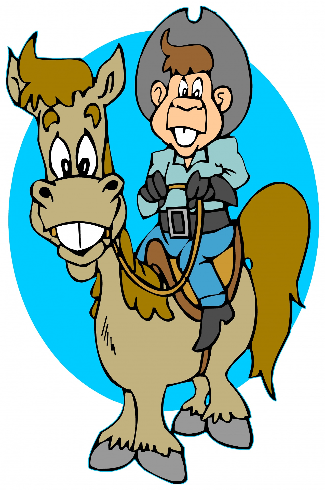 Funny cowboy clipart 8 » Clipart Station.