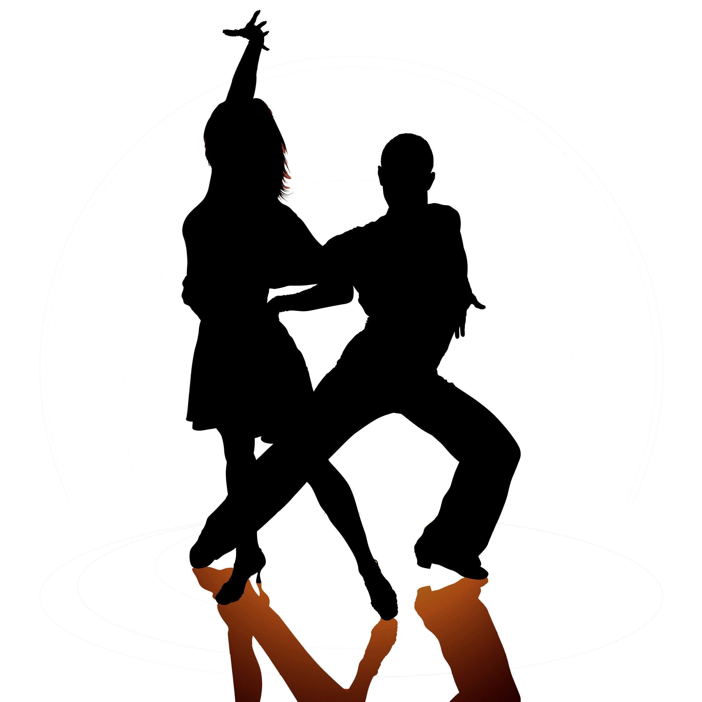 Funny Ballroom Dancers Clipart.