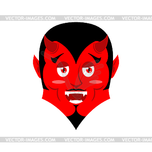 Red Devil. Funny demon. Satan with horns. Crafty.