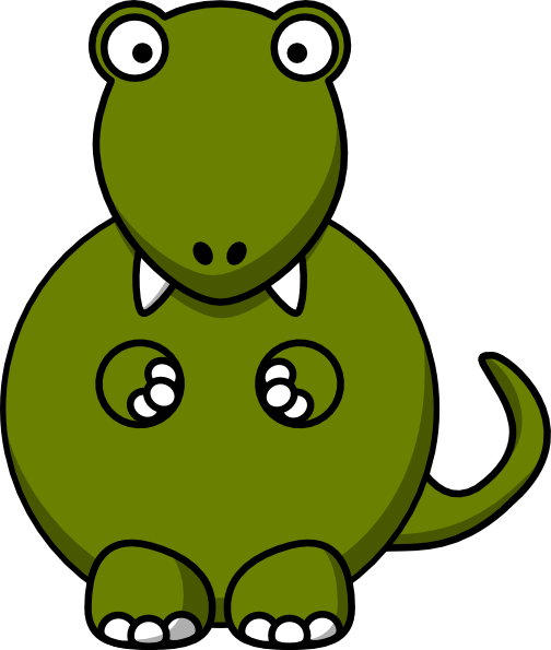 Cute and nervous dino.