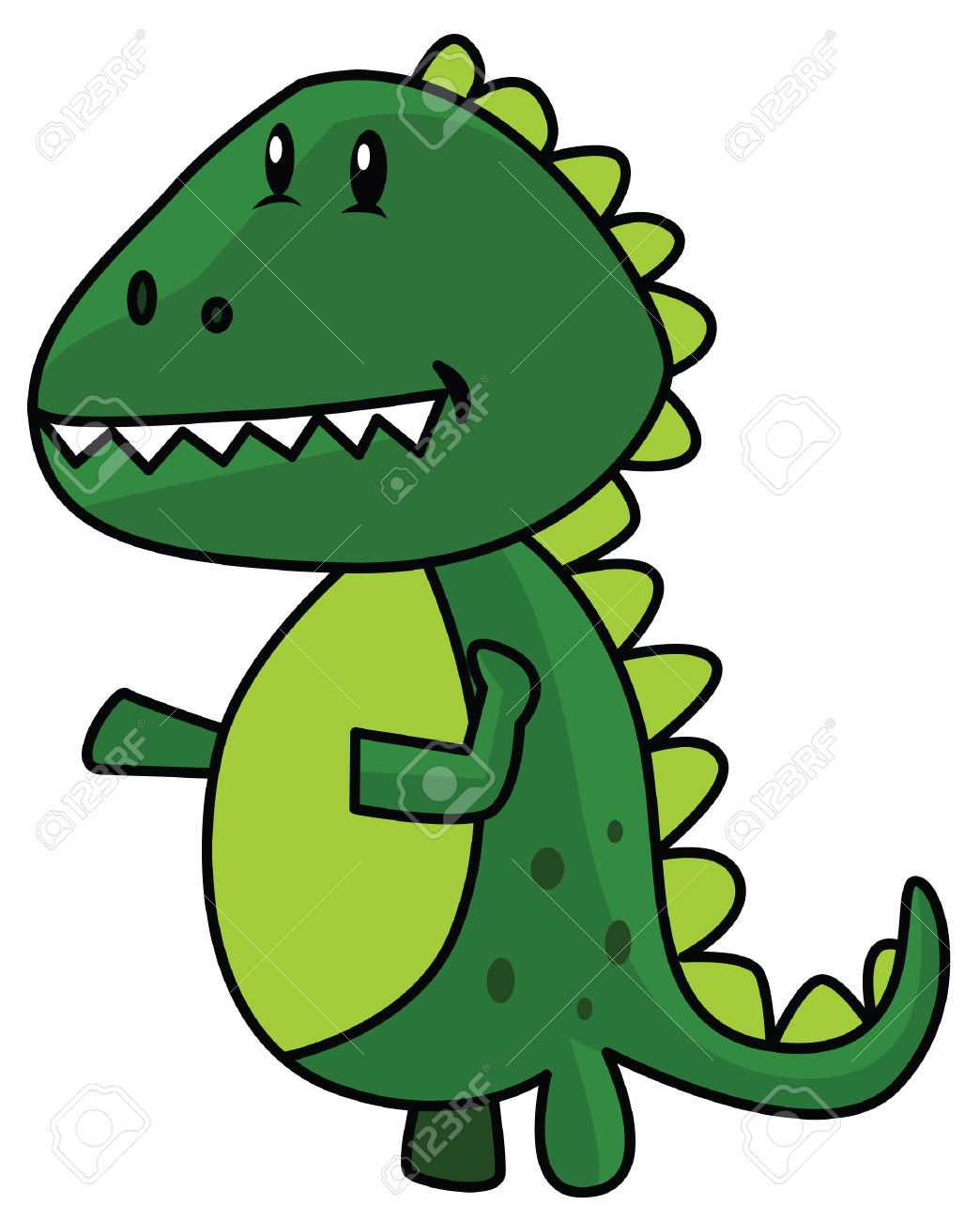 Funny ClipArt Of Baby Dinosaur Royalty Free Cliparts, Vectors, And.