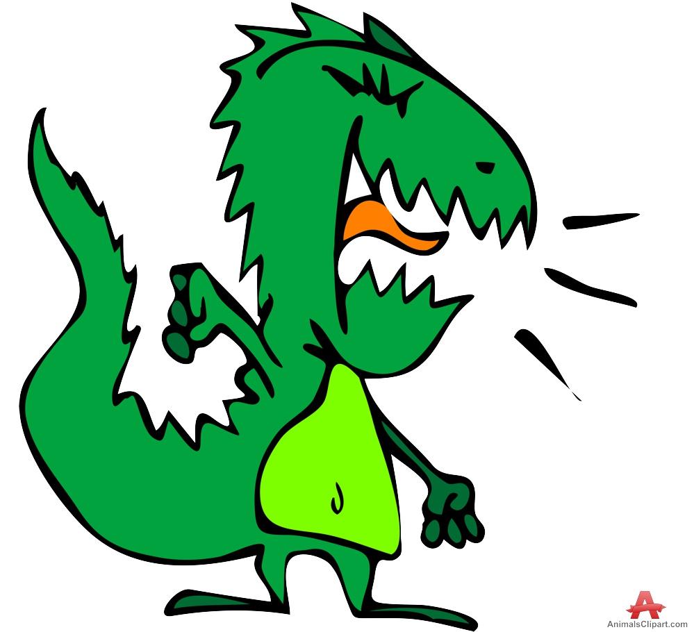 Funny Dinosaur Cartoon Character.