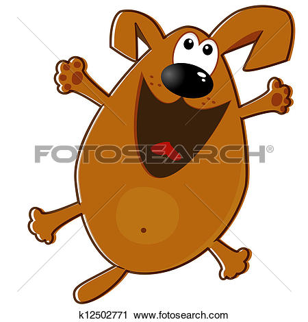 Clipart of Funny dog k12502771.