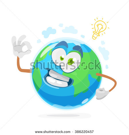 Illustration Funny Mascot Earth Glasses Stock Vector 386218372.