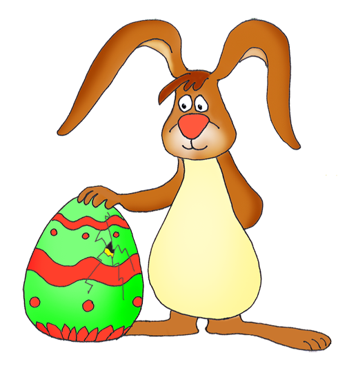 Funny easter bunny clipart 2.