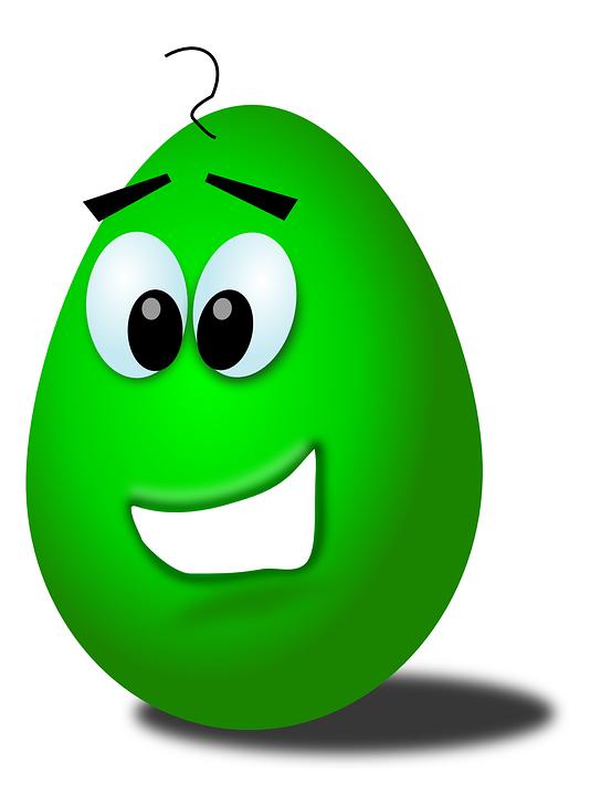 Egg Face Smiley Funny.