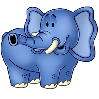Funny Elephant Clipart.