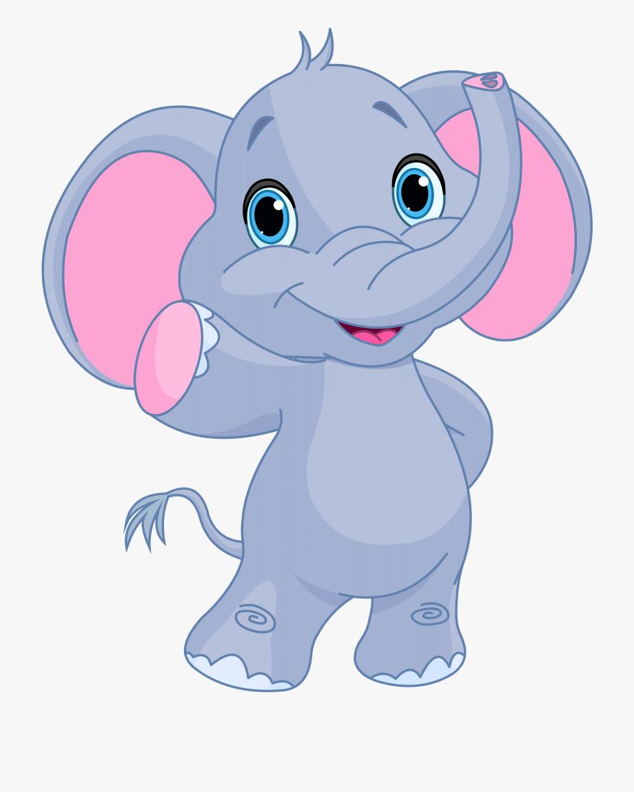 Funny Baby Elephant Image Cliparts.