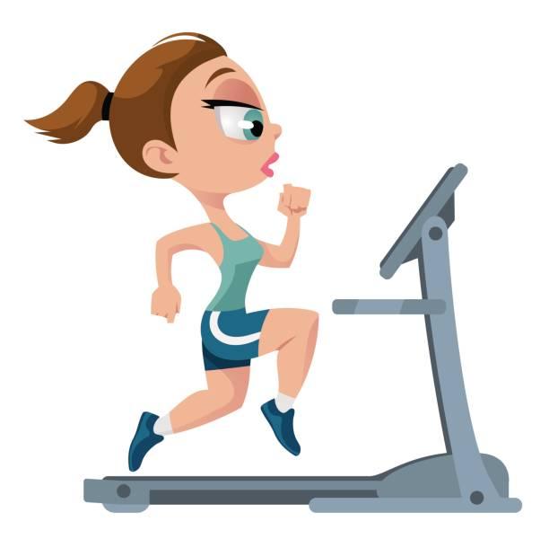 Best Treadmill Funny Illustrations, Royalty.