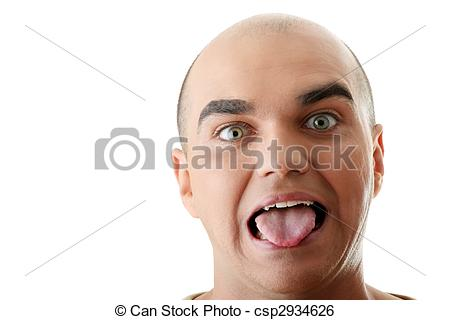 Stock Image of Man with happy facial expression.