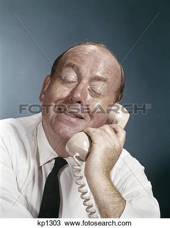 Stock Photo of 1960s business man eyes closed funny facial.