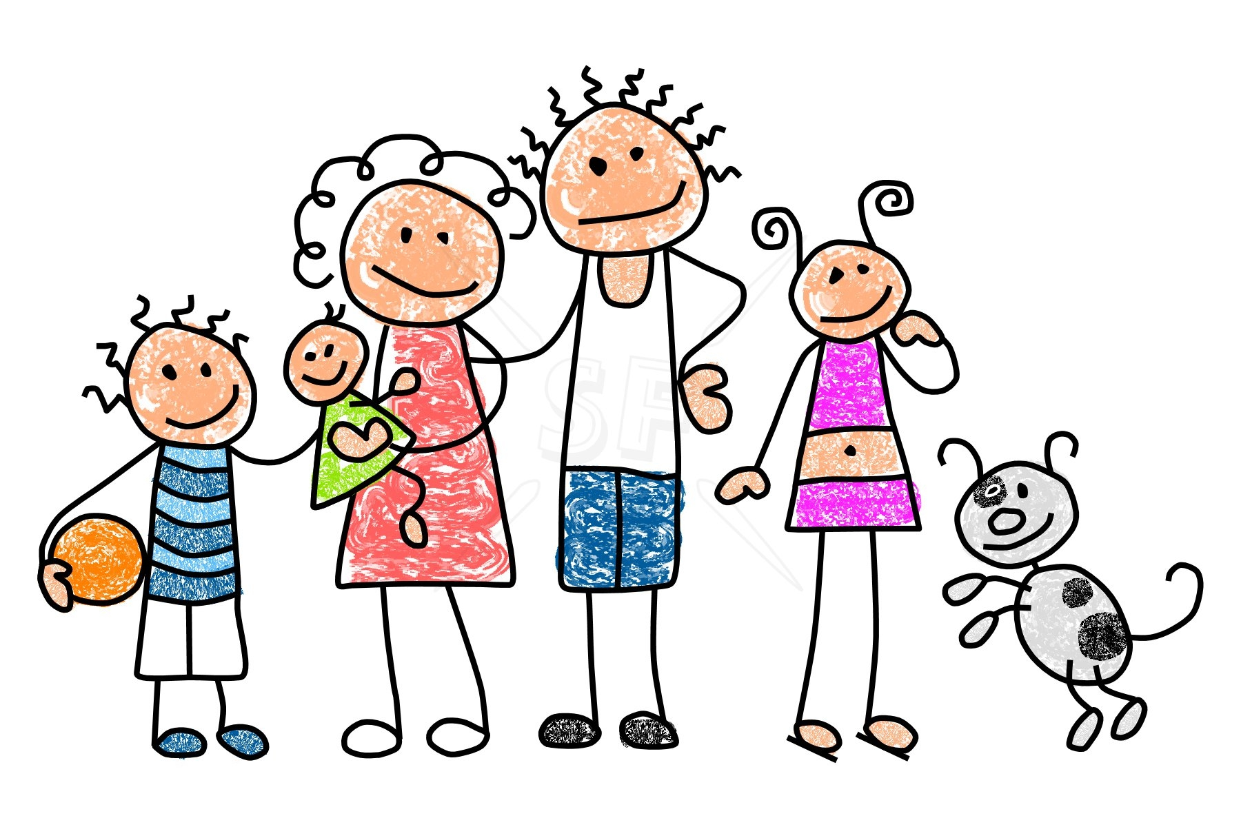 Funny Family Clipart.