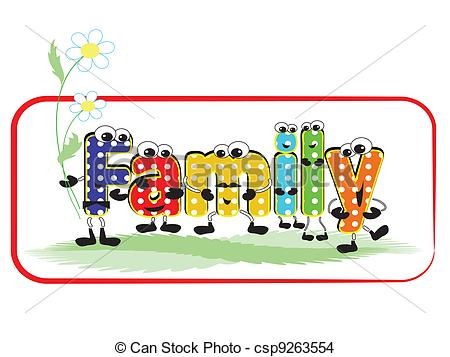 Vector Clip Art of Cartoon family.
