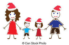 Vector Clip Art of Funny family.