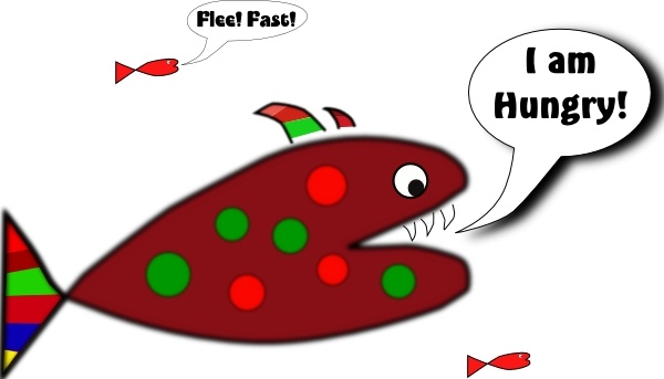 Funny Fish clip art Free vector in Open office drawing svg ( .svg.