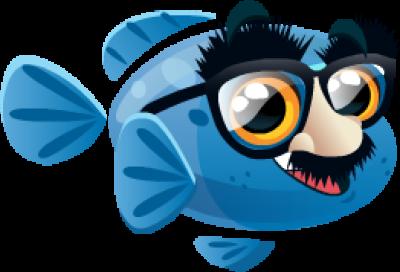 Fish with Attitude: Rare Funny Fish PNG.
