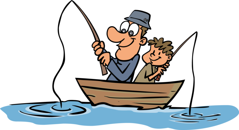 Fishing funny fisherman clipart kid.