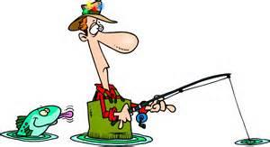 Funny fisherman clipart.