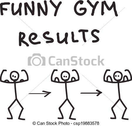Vectors Illustration of Funny character illustrated gym results.