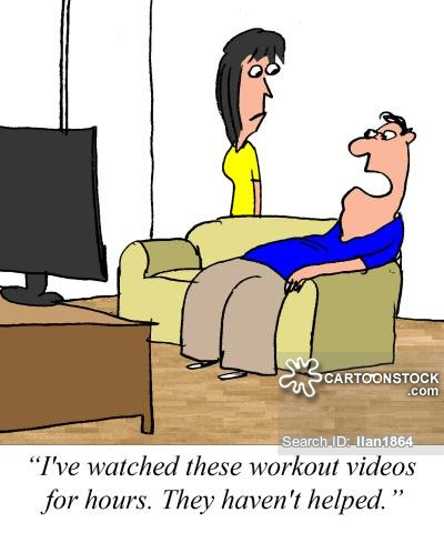 Workout Videos Cartoons and Comics.