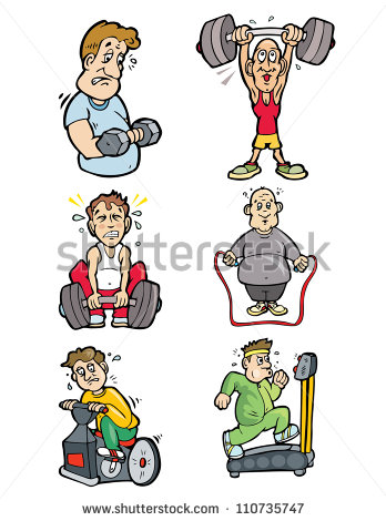 Guys Gym Working Out Vector Illustration Stock Photo 110735747.